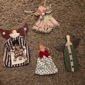 Four adorable vintage angel ornaments